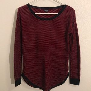 Splendid Red and blue cotton silk sweater